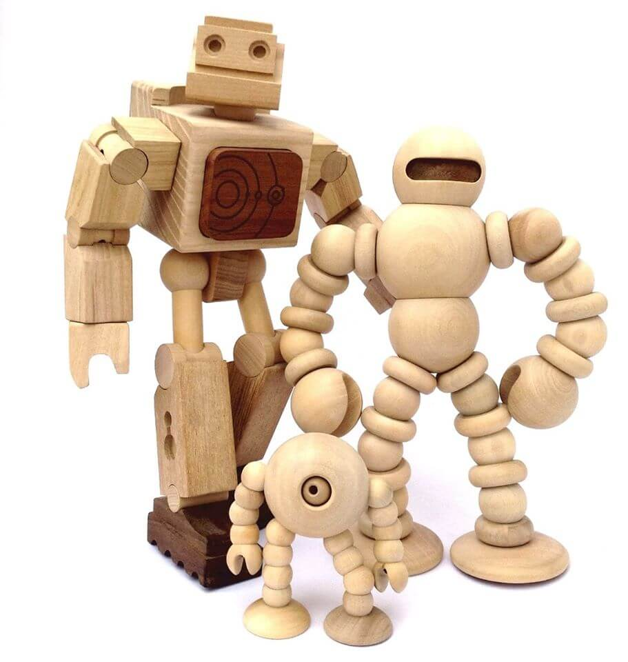 Robots de madera